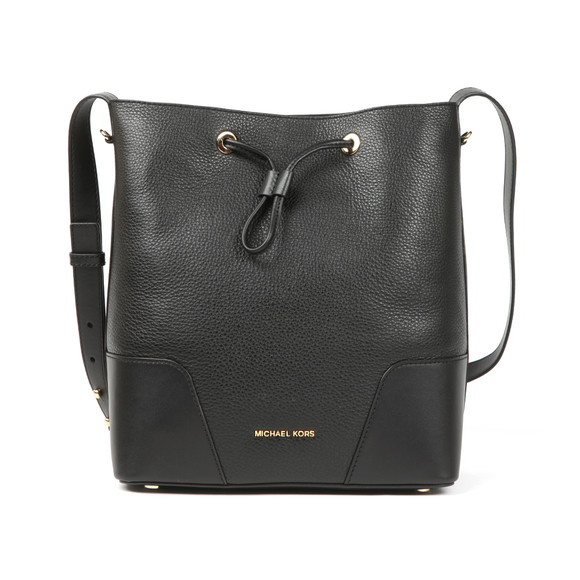 Michael Kors Womens Black Cary Mid Bucket Bag main image