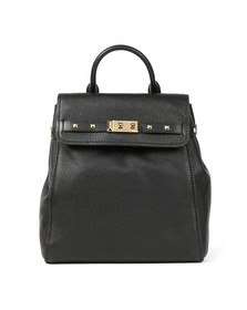 Michael Kors Womens Black Addison Mid Backpack