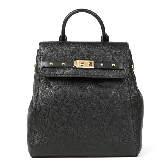 Michael Kors Womens Black Addison Mid Backpack main image