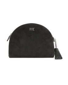 Michael Kors Womens Black Mid Half Moon Crossbody Bag