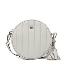 Michael Kors Womens Grey Mid Canteen Crossbody Bag