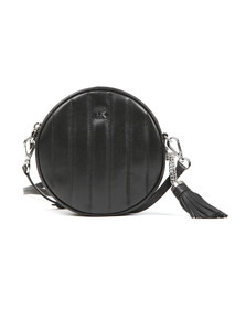 Michael Kors Womens Black Mid Canteen Crossbody Bag