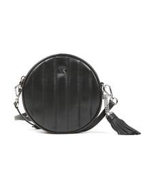 Michael Kors Womens Black Mid Canteen Crossbody Bag