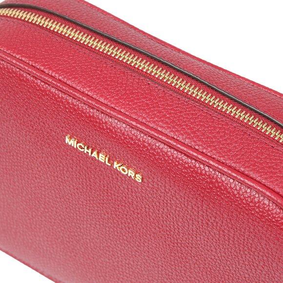 Michael Kors Womens Red Ginny Leather Crossbody main image