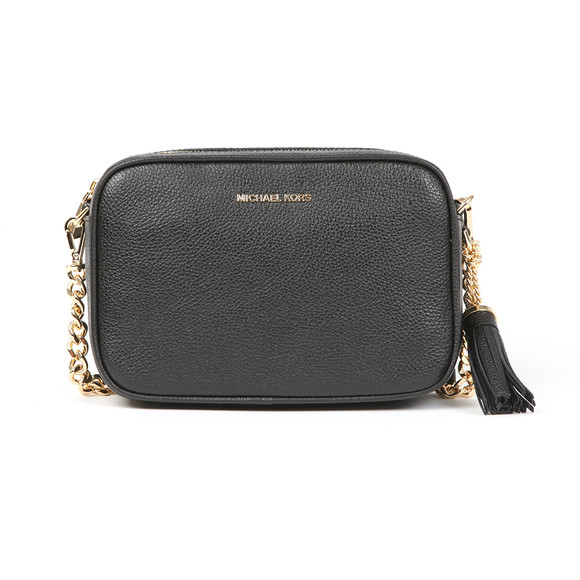 Michael Kors Womens Black Ginny Leather Crossbody main image