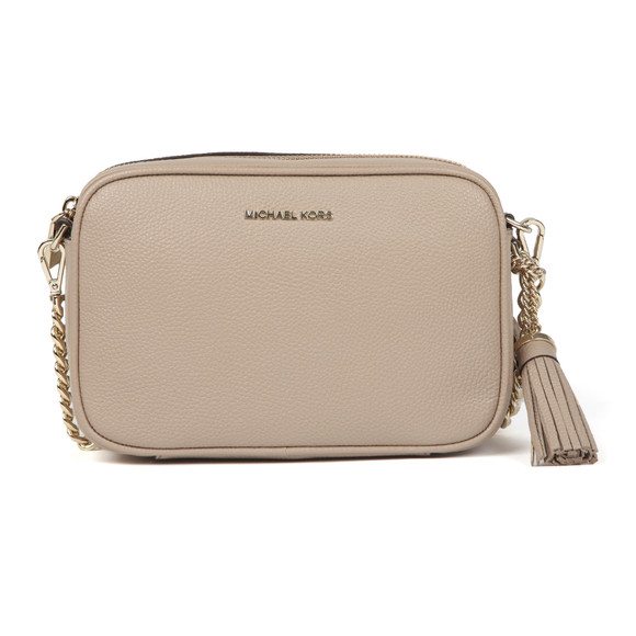 dd9712deaf7b Michael Kors Womens Beige Ginny Medium Pebbled Leather Crossbody main image