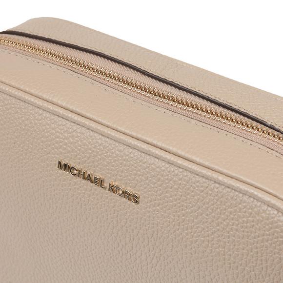 Michael Kors Womens Beige Ginny Medium Pebbled Leather Crossbody main image