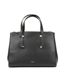 Ted Baker Womens Black Alexiis Bow Adjustable Handle Large Tote Bag