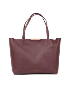 Ted Baker Womens Purple Caullie Bow Detail Soft Shopper