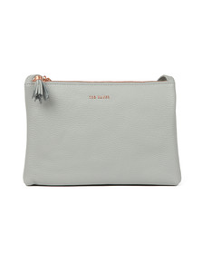 Ted Baker Womens Grey Maceyy Tassle Double Zipped Xbody Bag