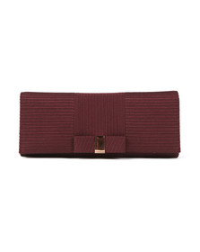 Ted Baker Womens Purple Emilee Flat Bow Evening Bag