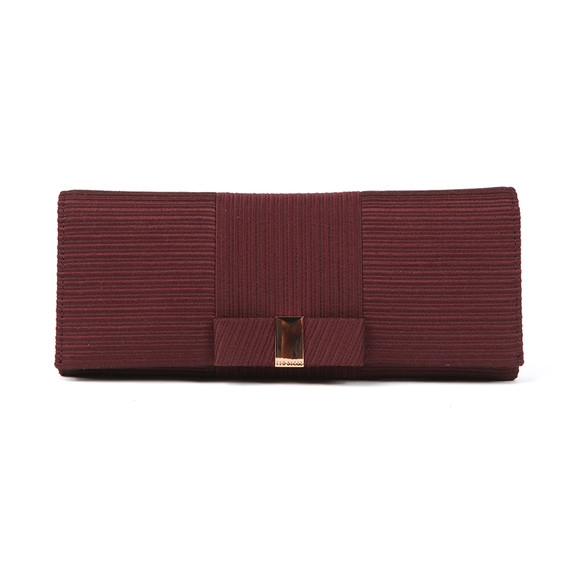 Ted Baker Womens Purple Emilee Flat Bow Evening Bag main image