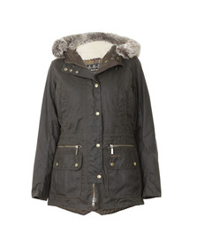 Barbour Lifestyle Womens Green Kelsall Wax Jacket