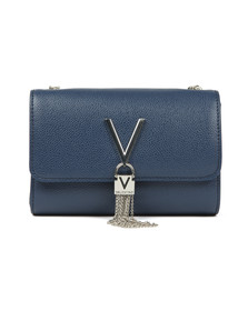 Valentino by Mario Womens Blue Divina Clutch Bag