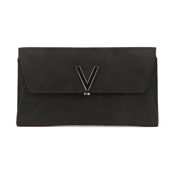 Valentino by Mario Womens Black Flash Suede Clutch main image
