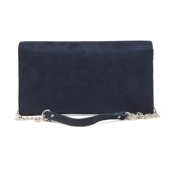 Valentino by Mario Womens Blue Flash Suede Clutch main image