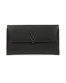 Valentino by Mario Womens Black Flash Clutch