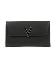 Valentino by Mario Womens Black Flash Clutch