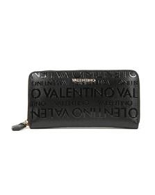 Valentino by Mario Womens Black Serenity Zip Around Wallet