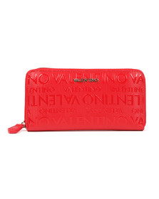 Valentino by Mario Womens Red Serenity Zip Around Wallet