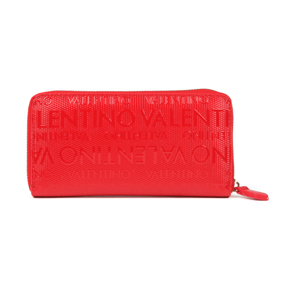 Valentino by Mario Womens Red Serenity Zip Around Wallet main image