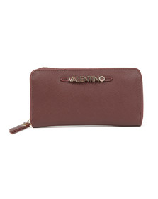 Valentino by Mario Womens Red Sea Winter Zip Around Wallet