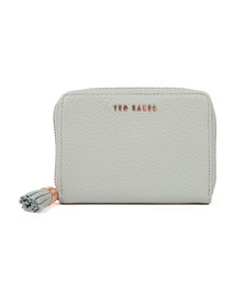 Ted Baker Womens Grey Sabel Tassel Zip Around Small Purse
