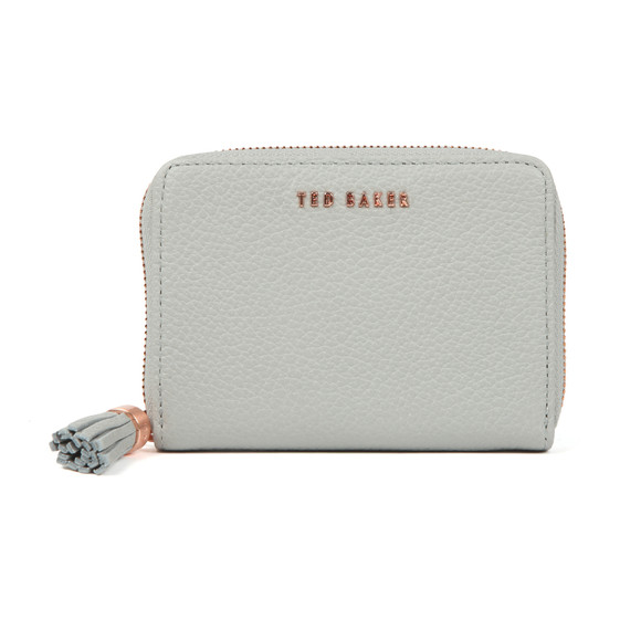 Ted Baker Womens Grey Sabel Tassel Zip Around Small Purse main image