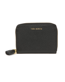 Ted Baker Womens Black Sabel Tassel Zip Around Small Purse