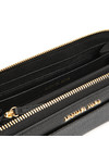 Michael Kors Womens Black Mercer Pebble Zip Purse