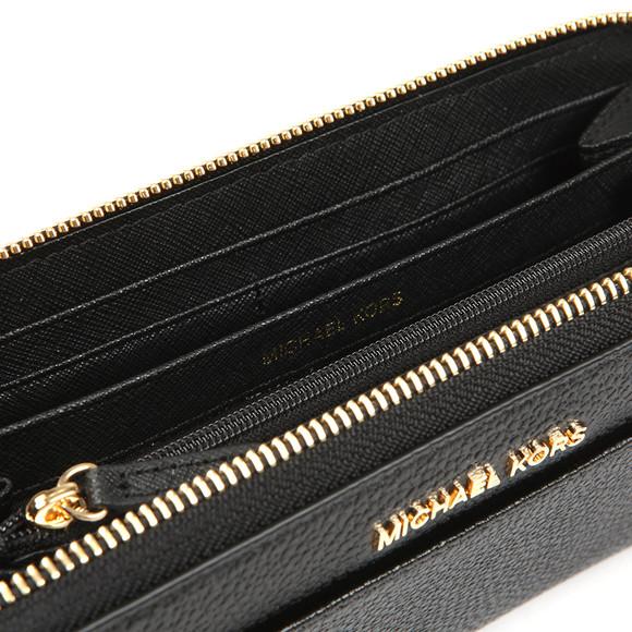 Michael Kors Womens Black Mercer Pebble Zip Purse main image