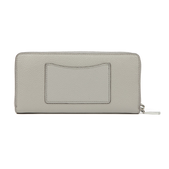 Michael Kors Womens Grey Mercer Pebble Zip Purse main image