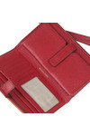 Michael Kors Womens Red Mercer Pebble Double Zip Wristlet Purse