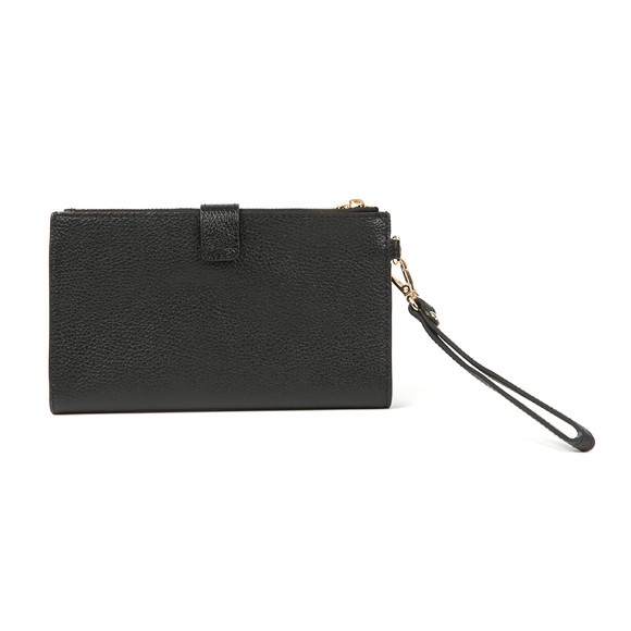 Michael Kors Womens Black Mercer Pebble Double Zip Wristlet Purse main image