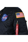 Alpha Industries Mens Blue MA1 Nasa Jacket