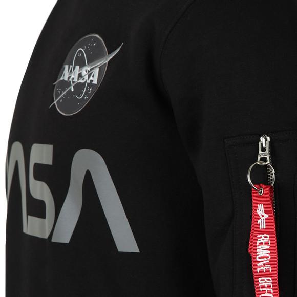 Alpha Industries Mens Black NASA Reflective Sweat main image