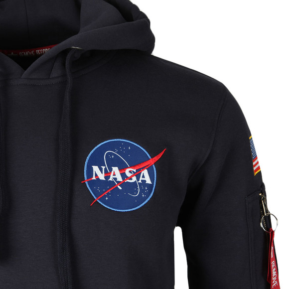 Alpha Industries Mens Blue Space Shuttle Hoody main image