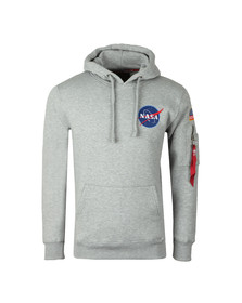Alpha Industries Mens Grey Space Shuttle Hoody