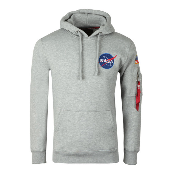 Alpha Industries Mens Grey Space Shuttle Hoody main image