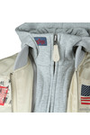 Alpha Industries Mens Beige MA-1 D-Tec Blood Chit Jacket