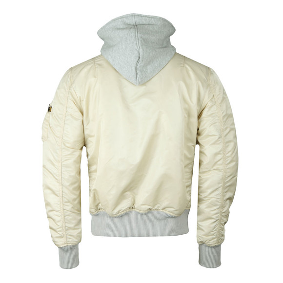 Alpha Industries Mens Beige MA-1 D-Tec Blood Chit Jacket main image