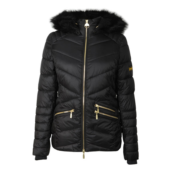 Barbour International Womens Black Turbo Quilted Jacket main image