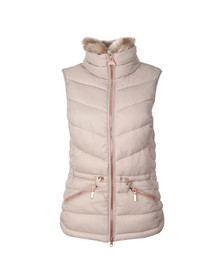 Barbour International Womens Off-white Victory Gilet