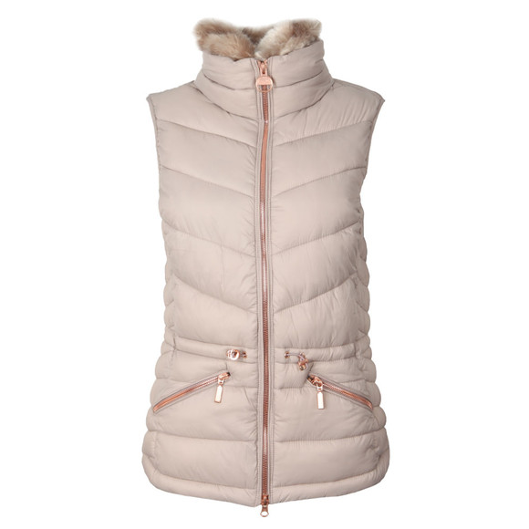 Barbour International Womens Off-White Victory Gilet main image
