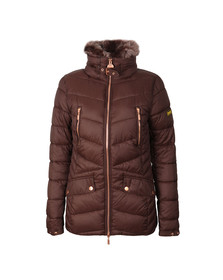 Barbour International Womens Brown Autocross Quilted Jacket