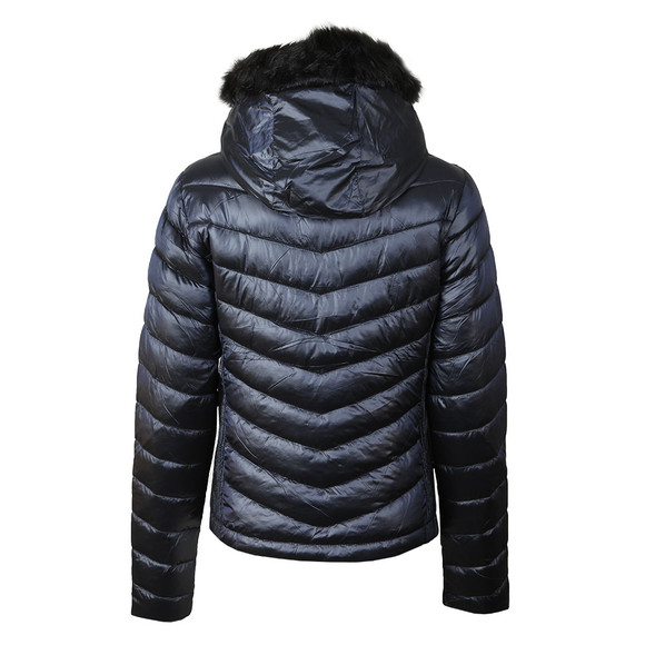 Superdry Womens Blue Hooded Luxe Chevron Fuji Jacket main image