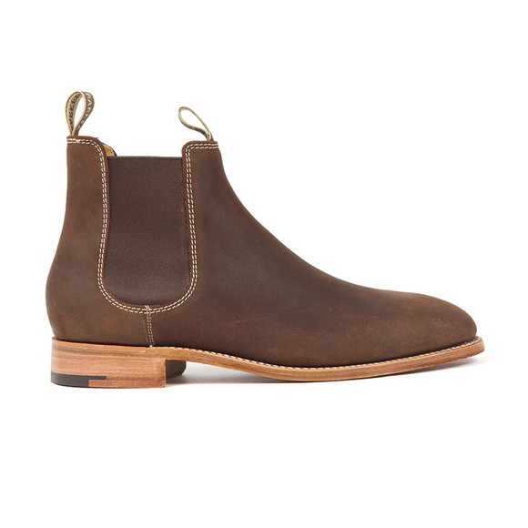 Barker Mens Brown Mansfield Waxy Suede Boot