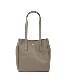 Michael Kors Womens Beige Junie Mid Leather Tote Bag