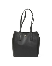 Michael Kors Womens Black Junie Mid Leather Tote Bag
