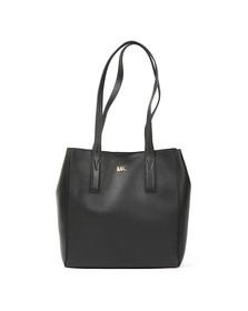 Michael Kors Womens Black Junie Mid Leather Tote Bag